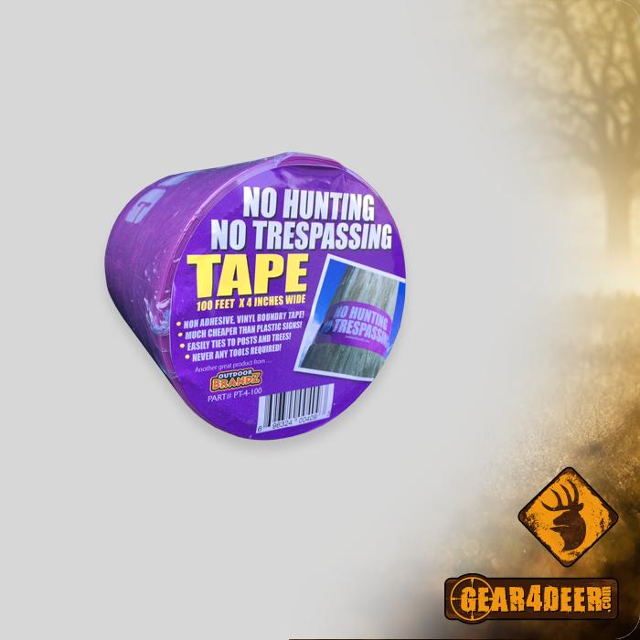 Purple - No Hunting No Trespassing Tape